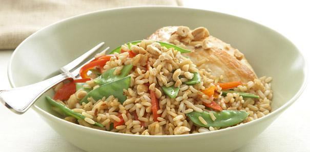 Asian Grilled Chicken and Rice Salad