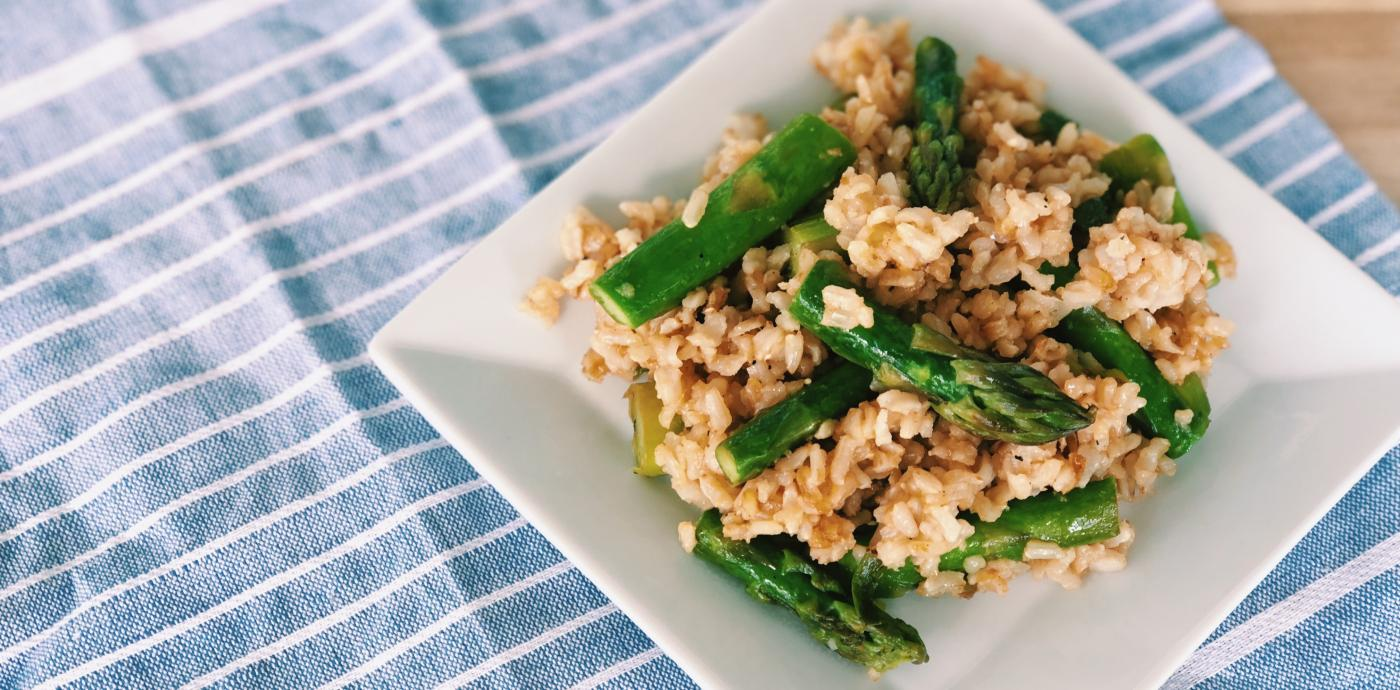 Asparagus and Ginger Fried Rice