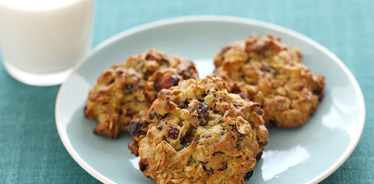 Avocado Oatmeal Raisin Cookies