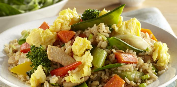 Chicken and Egg Unfried Brown Rice