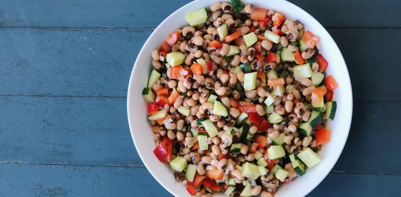 cold black eyed pea salad