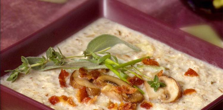 Cremini Mushroom Rice Soup
