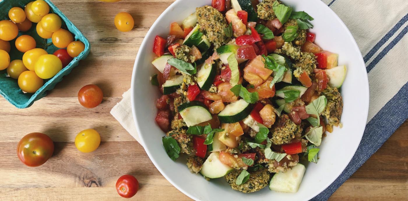 Falafel Panzanella Salad