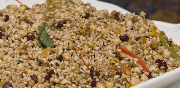 Farro Dried Fruit Garbanzo Salad