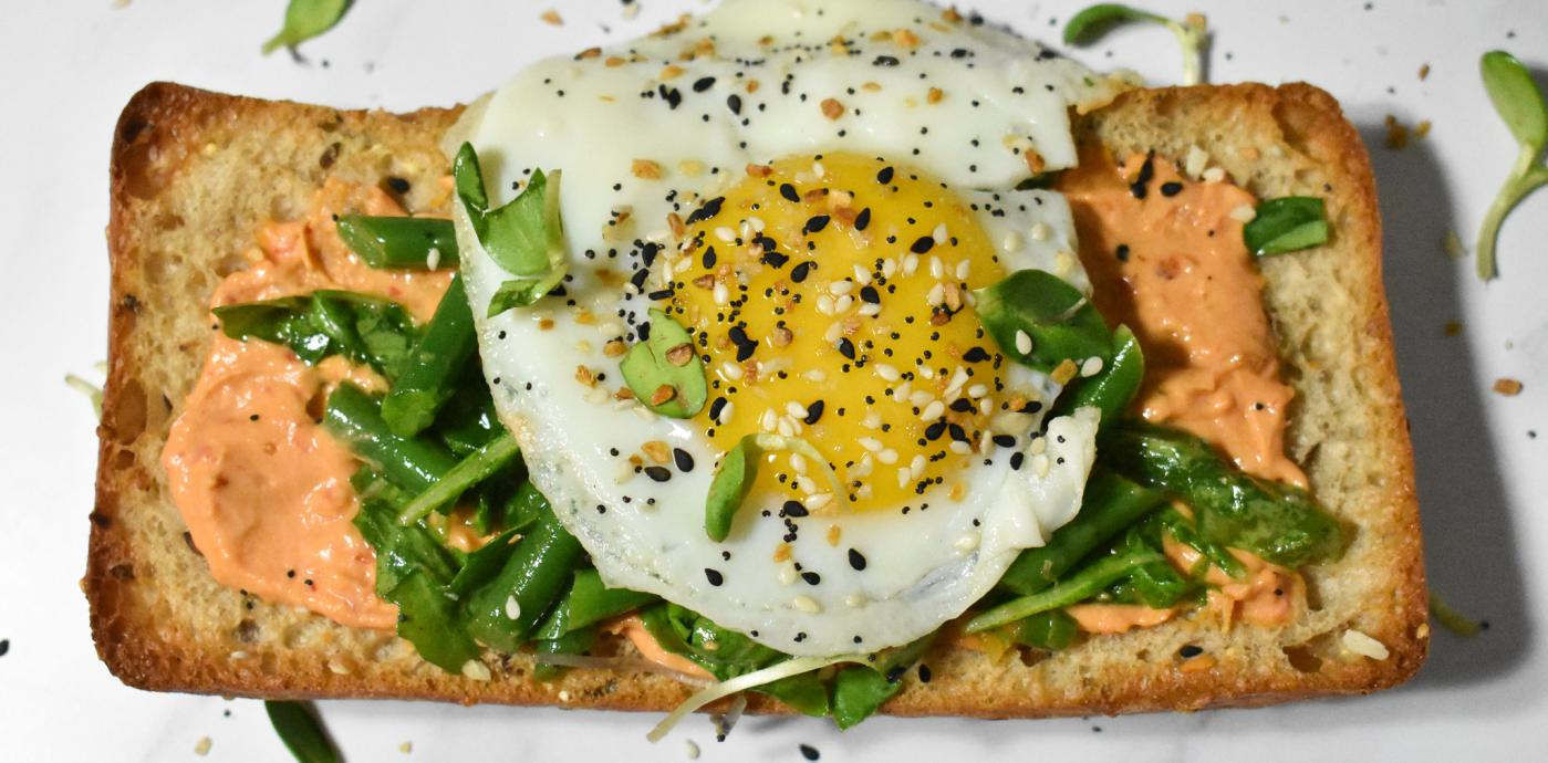 Harissa Hummus Breakfast Tartine