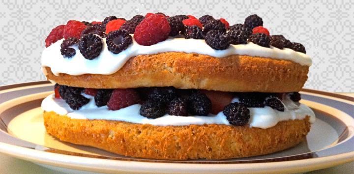 Whole Grain Berry Cake
