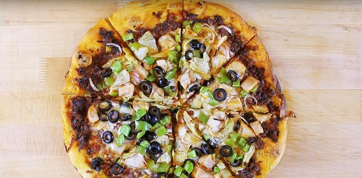 Sun Dried Tomato Mediterranean Pizza