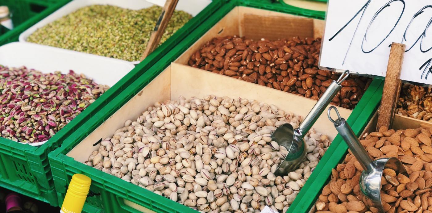 assorted nuts in ortigia