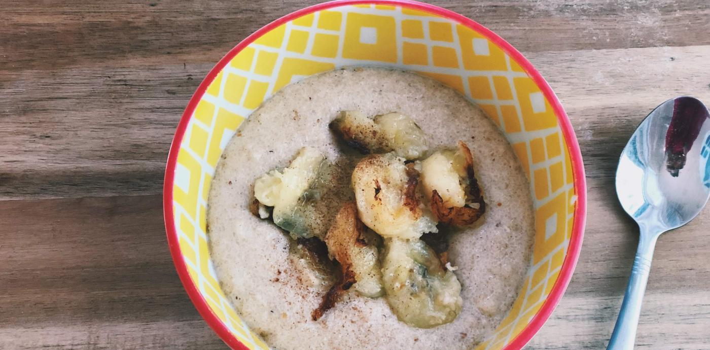 Fonio Porridge with Bananas