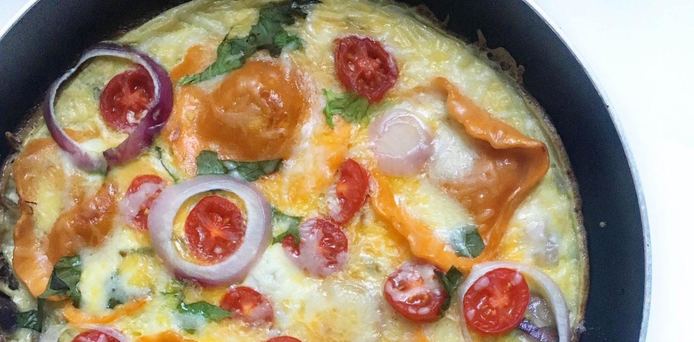 Ravioli Omelet Fritatta .JPG