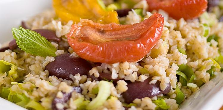 Pomegranate And Roasted Tomato Bulgur Salad Recipes — Dishmaps