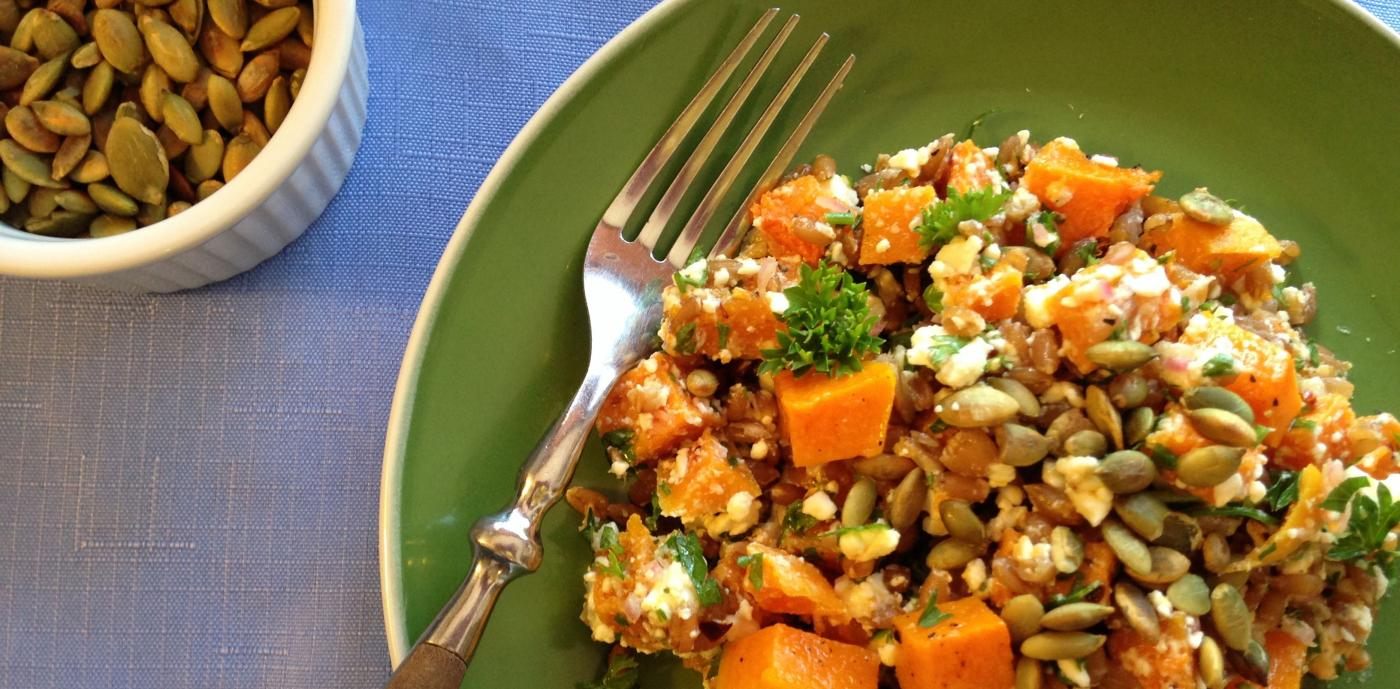 Roasted Squash with Spelt