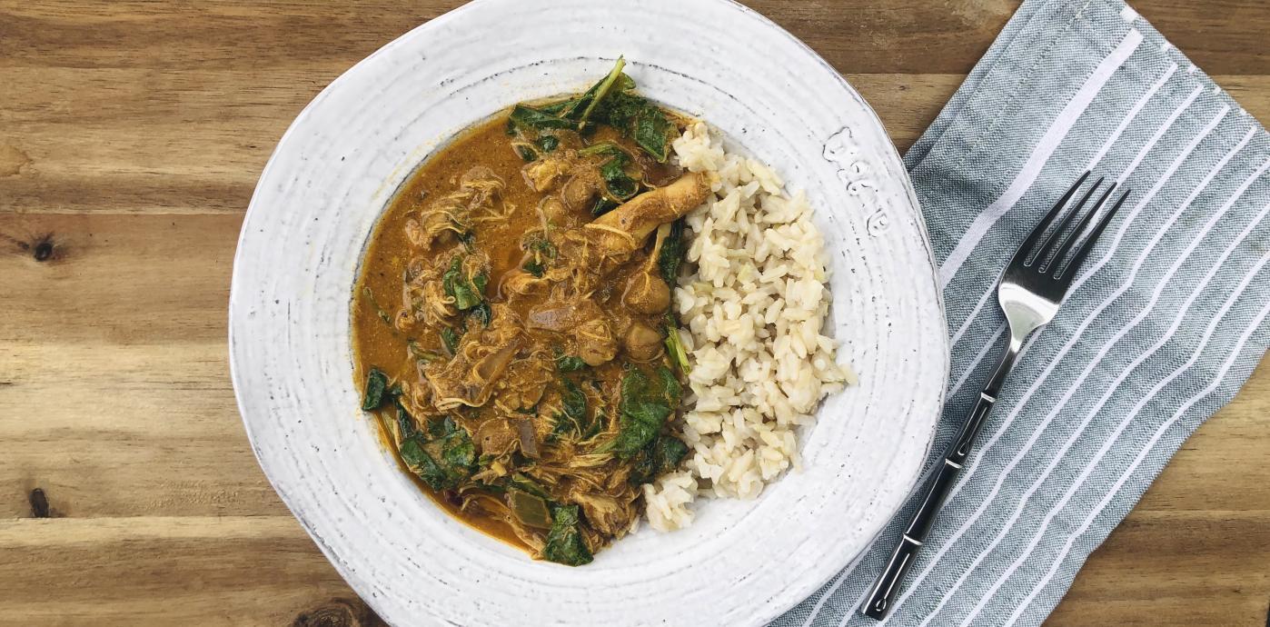 chicken tikka masala on a plate