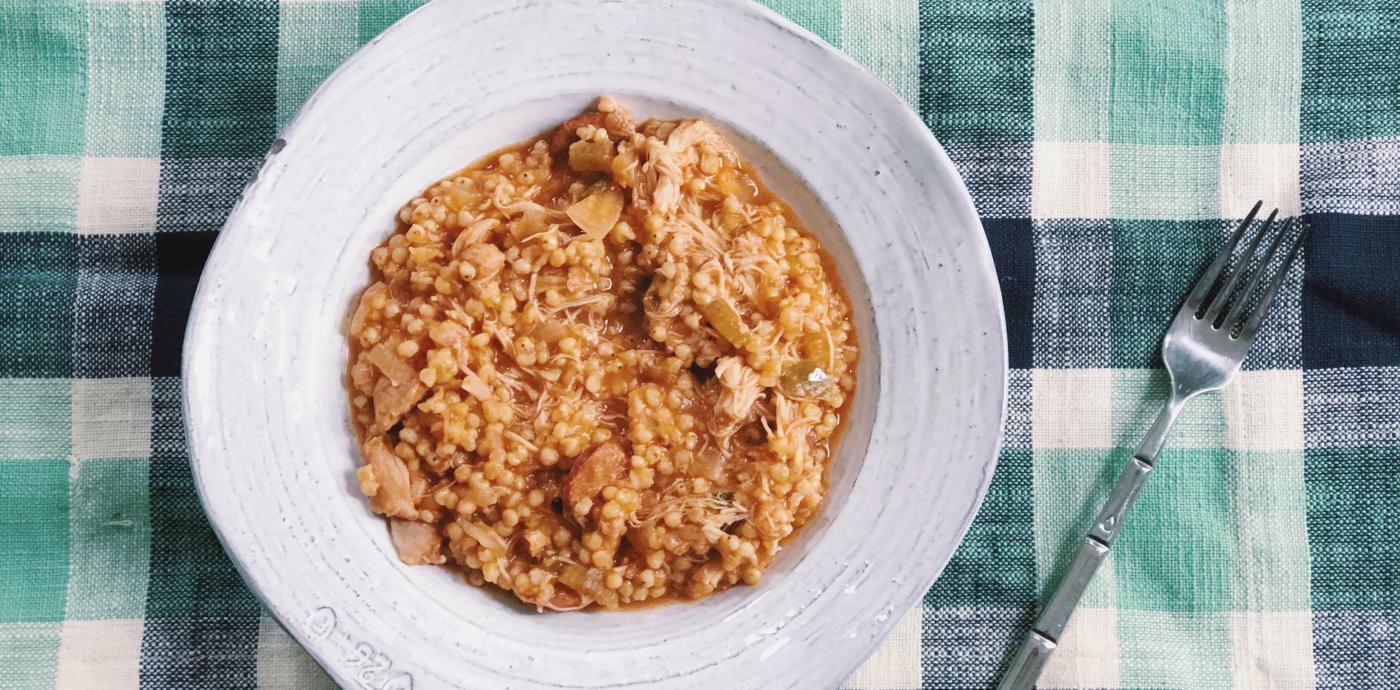 slow cooker sorghum jambalaya