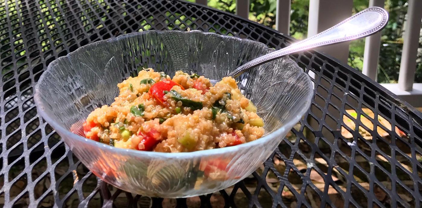 Sprouted Mediterranean Quinoa Salad