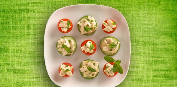 Tomato Cucumber Rounds