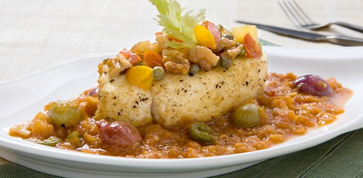 Tunisian Walnut Olive Fish