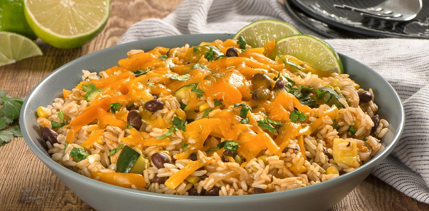 Vegetable Enchilada Rice Bake