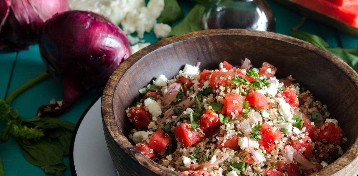 Watermelon Quinoa Salad
