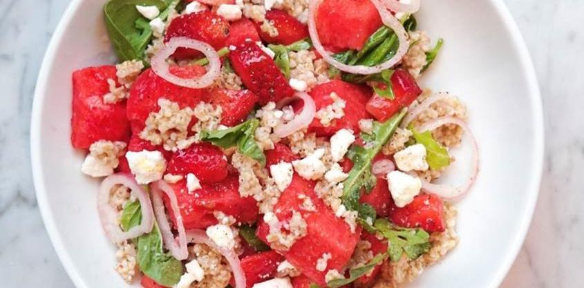 Watermelon Oat Salad