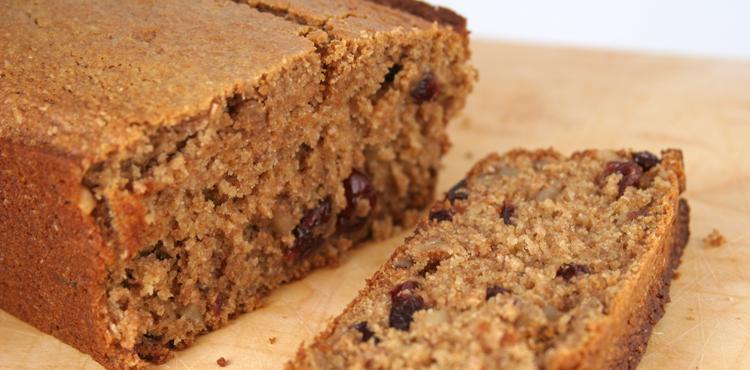 Wheat Bran Cranberry Quickbread