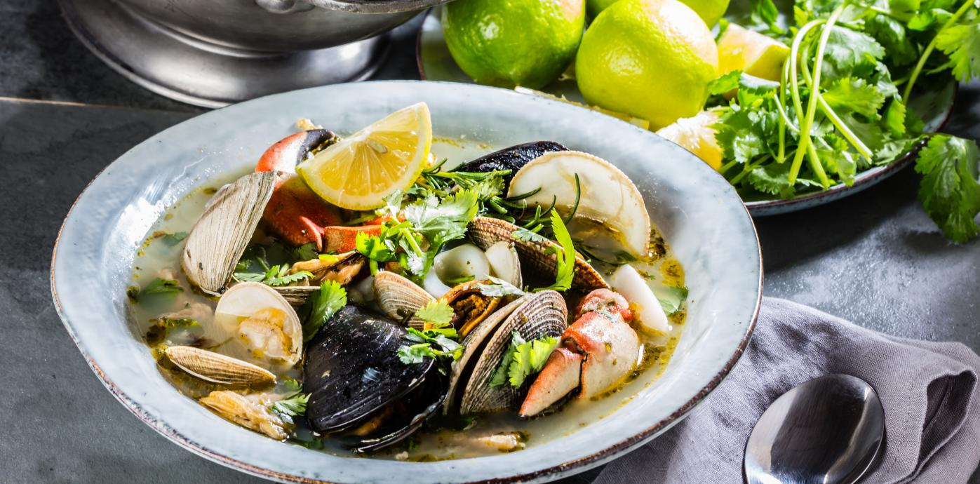 seafood plate istock green
