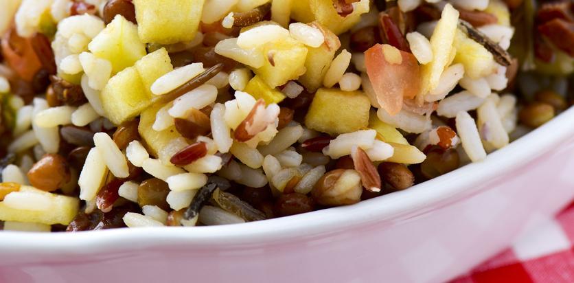 wild rice lentil salad