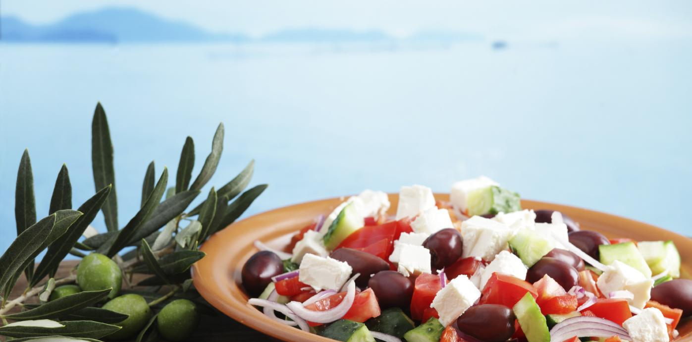 istock greek salad by the ocean