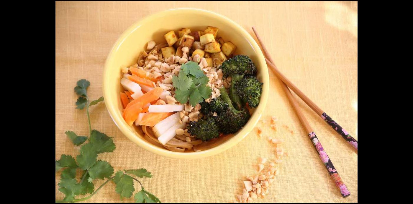 Peanut Noodles with Turmeric Tofu