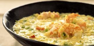 Quinoa Corn Chowder with Shrimp