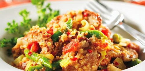 Coconut-Spiked Pork with Quinoa and Peanuts