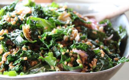 Artichoke Heart, Kale and Farro Salad