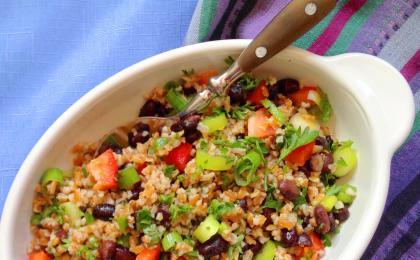 Black Bean Bulgur Orange Salad