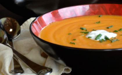 Carrot Ginger Yogurt Soup