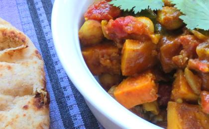 Chana (Chickpeas) with Sweet Potatoes