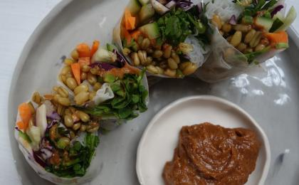 Freekeh Rice Wraps