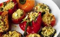 Stuffed Peppers, Tomatoes and Mushrooms