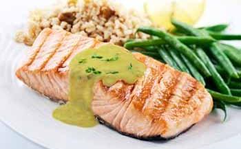 Salmon with Avocado Sauce