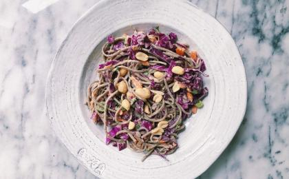 soba noodle and cabbage salad