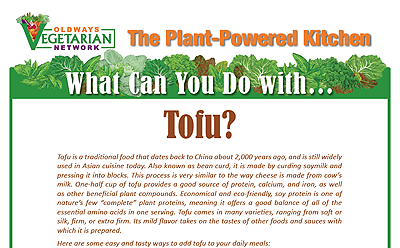 What can you do with tofu?