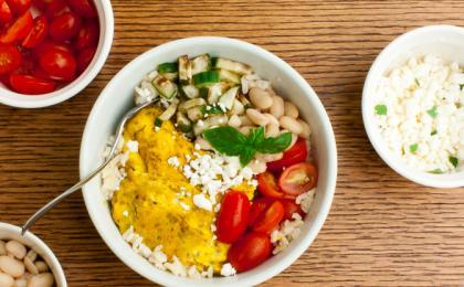 Egg Brown Rice Breakfast Bowl