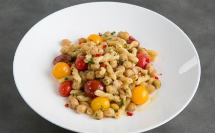 gemelli pasta with spicy chickpeas rosemary + fresh cherry tomatoes - Aranya Tomseth.jpg
