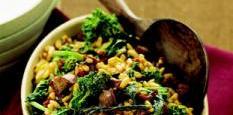 Kamut, Broccoli Rabe and Sausage Medley