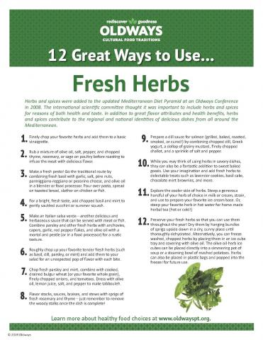 12 Great Ways to Use Fresh Herbs
