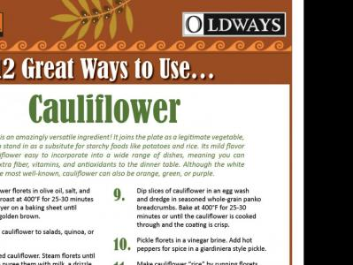 12 Great Ways to Use Cauliflower