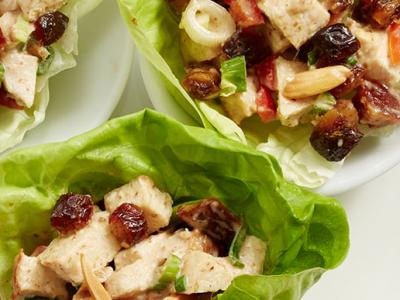 Chicken and Medjool Date Lettuce Wraps
