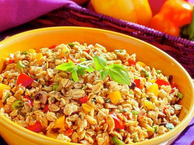 Three Pepper Oat Pilaf