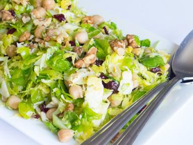 Brussels Sprouts and Chickpea Salad