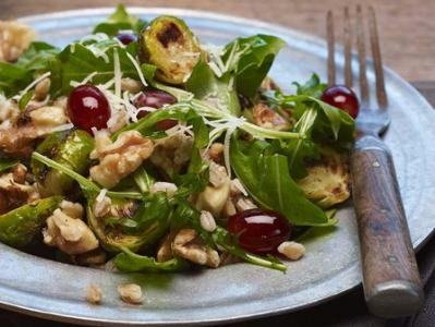 Brussels Sprouts Farro and Walnuts