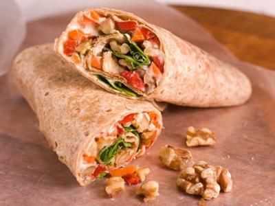 Walnut and Hummus Wrap